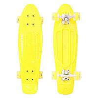 Скейт Profi Penny Board MS0848-1 Желтый