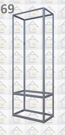 Конструктор (каркас) витрины № 69 из алюминиевого профиля (2578)1449,2576,2721, фото 2