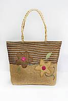 Пляжная сумка Паттайя коричневая