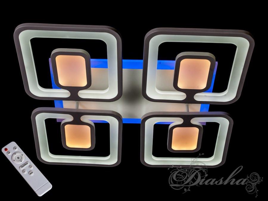 Потолочная LED-люстра с диммером и подсветкой