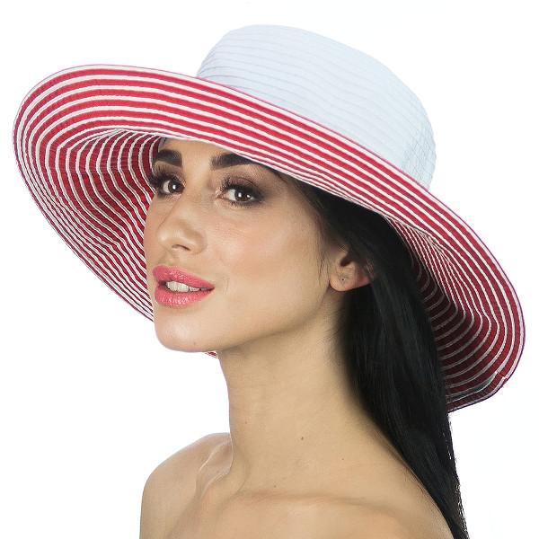 Річна крислатий двоколірна капелюх з бантом