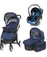 Детская коляска 3 в 1 4BABY ATOMIC (navy blue)