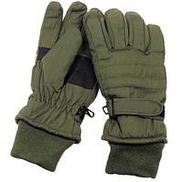[Спец.ЦЕНА] Перчатки с утеплителем и манжетой тёмно-зелёные (L) MFH 15474B