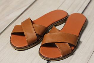 Женские кожаные замшевы шлепки TIFFANY на каблуке низком ходу платформе с гвоздями оптом