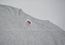 Мужская футболка плотная мягкая Серо-лиловая Fruit of the loom 61-422-94 S, фото 2