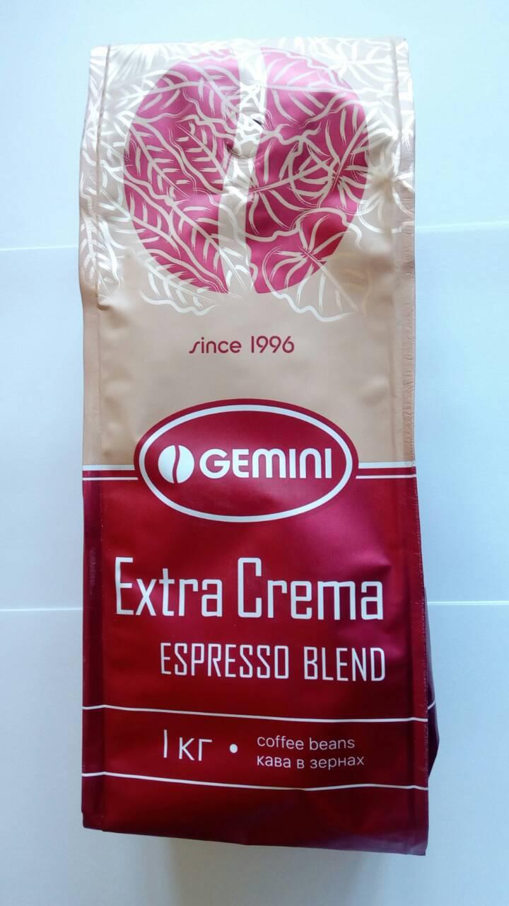 Кофе Gemini Extra Crema Espresso Blend в зернах 1 кг