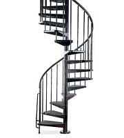 Металлическая винтовая лестница на заказ | Цена производителя винтовой лестницы в Киеве, фото 1