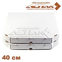 Коробки для пиццы 400х400х37 белая, фото 1