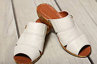 Копия Женские кожаные босоножки  сандалии сабо тапочки TIFFANY на танкетке платформе, фото 1