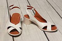 Женские кожаные босоножки TIFFANY на каблуке, фото 1