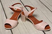 Женские кожаные босоножки TIFFANY на каблуке оптом, фото 1
