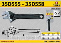 Ключ разводной Ra-(0..31)мм., 200мм., CrV,   TOPEX  35D556