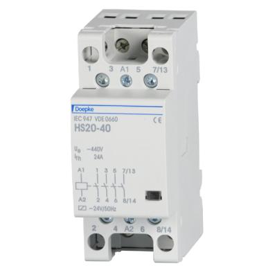 Контактор модульный Doepke HS 25-31 (220 В) 2 мод., 25 А, контакты: 3 NO + 1 NC, dp09980410
