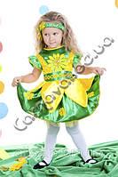 Карнавальный костюм Подсолнух девочка, фото 1