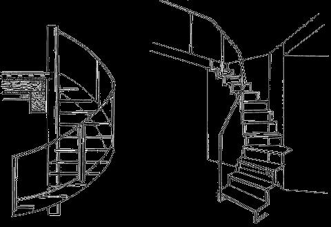 винтовые лестницы на заказ разных форм и размеров