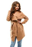 Женское кашемировое пальто XL, бежевый