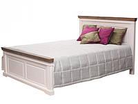 Ліжко з ДСП/МДФ в спальню Каліфорнія двоспальне (античний білий) Domini