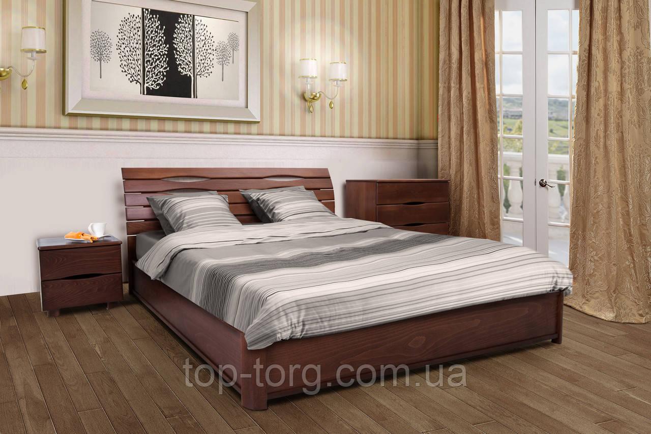 Кровать Мария с подъемным механизмом, 1800х2000мм темный орех, деревянная
