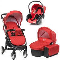 Детская коляска 3 в 1 4BABY ATOMIC (red)