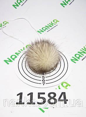 Меховой помпон Норка, Крем с К\К, 4 см, 11584, фото 2