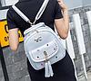 Женский рюкзак с вышивкой серый, фото 5