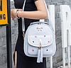 Женский рюкзак с вышивкой серый, фото 6