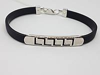 Срібний браслет з каучуком. Артикул 910031С 18, фото 1