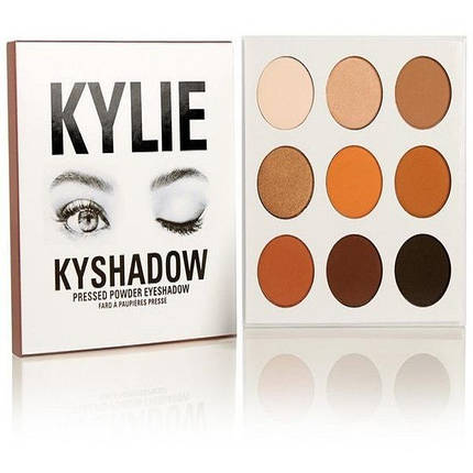 Тени KYLIE KYSHADOW pressed powder eyeshadow the bronze palette 9 цветов, фото 2