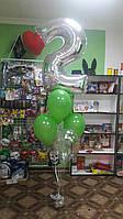 Фонтан Цифра и 6 шариков 30 см