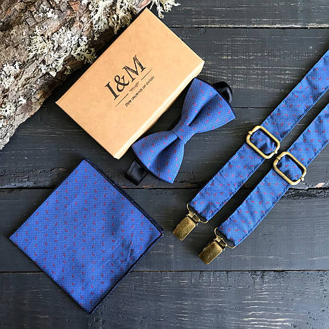 Набор I&M Craft галстук-бабочка и подтяжки для брюк (030239), фото 2