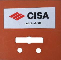 Марганцевая броне пластина на замок Cisa anti drill