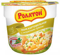 Ролтон Пюре картопл.зі смаженою цибулею стакан 37г