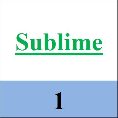 Sublime 1