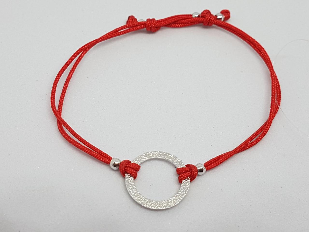 Браслет из текстиля с серебряными вставками. Артикул 905-00988