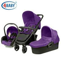Детская коляска 3 в 1 4BABY ATOMIC (PURPLE)