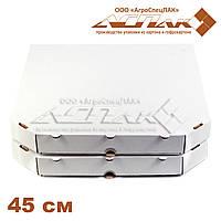Коробки для пиццы 450х450х40 белая, фото 1