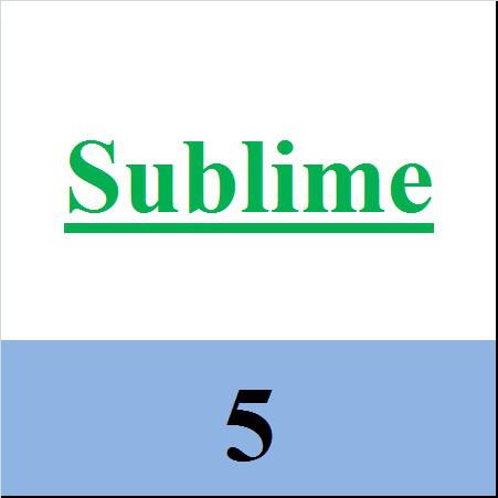 Sublime 5