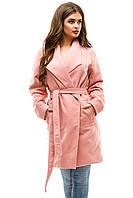 Женское кашемировое пальто L, розовый
