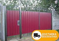 Въездные ворота с элементами ковки, код: Р-0103