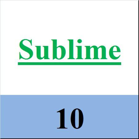 Sublime 10