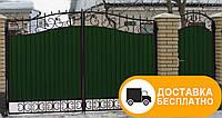 Въездные ворота с ковкой, код: Р-0107