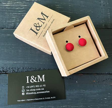 Запонки I&M Craft красные (500100Z), фото 2