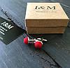 Запонки I&M Craft красные (500100Z)