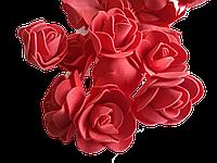 Головка розочки из фоамирана 3,5 см красная