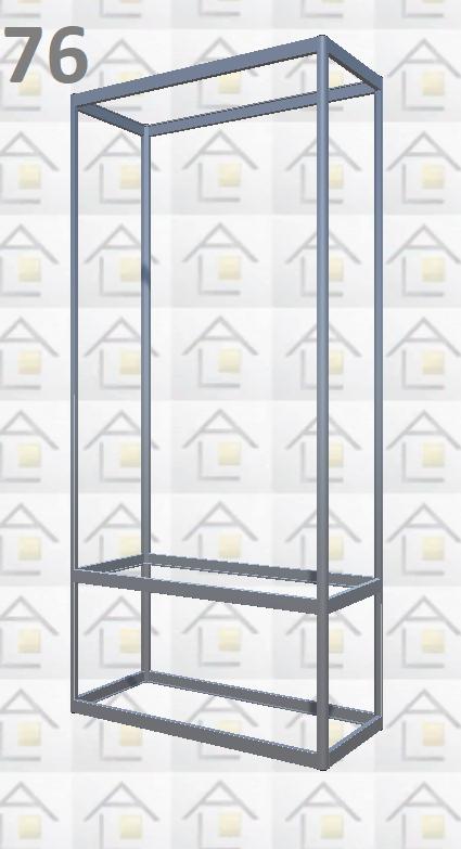 Конструктор (каркас) витрины № 76 из алюминиевого профиля (2578)1449,2576,2721
