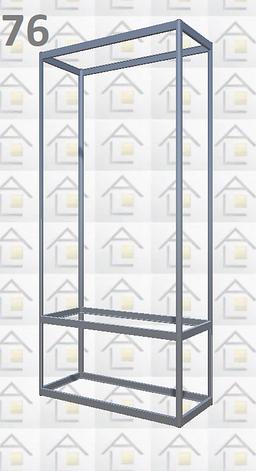 Конструктор (каркас) витрины № 76 из алюминиевого профиля (2578)1449,2576,2721, фото 2