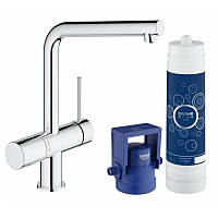 GROHE Blue Minta Pure Стартовый комплект (смеситель для кухни с функ. очистки питьевой воды + фильтр), хром