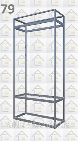 Конструктор (каркас) витрины № 79 из алюминиевого профиля (2578)1449,2576,2721, фото 2