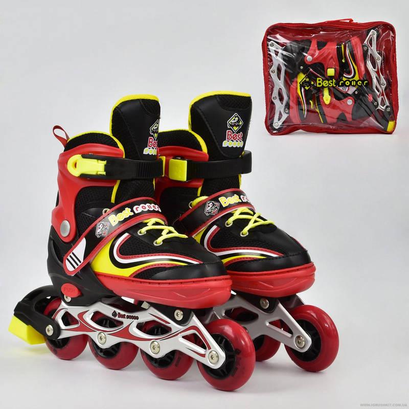 Роликовые коньки (ролики) детские раздвижные Best Roller A24748 размер 38-41 красные
