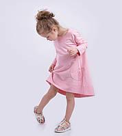 Нежно-розовое хлопковое платье. Размеры: 86, 98, 104, 110, 122 см, фото 1